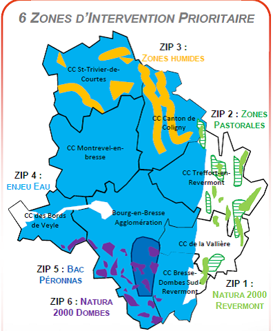 zones intervention prio MAEC